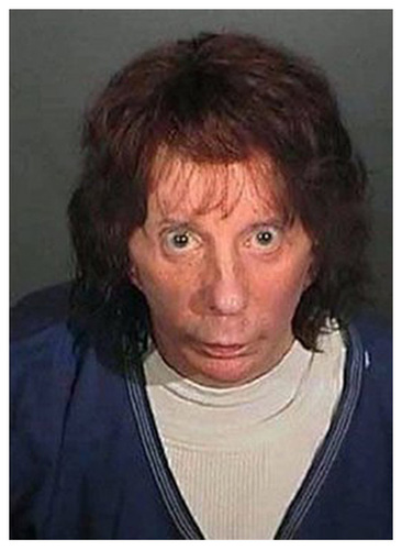 In this police booking photo released by the Los Angeles County Sheriff's Dept. showing Rock music producer Phil Spector after he was convicted Monday April 13, 2009, of second-degree murder in the shooting death of actress Lana Clarkson at his mansion in 2003. (AP Photo/Los Angeles County Sherriff's Department)